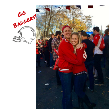 Brady and Hannah at the University of Wisconsin-Madison Badgers Financially Engaged