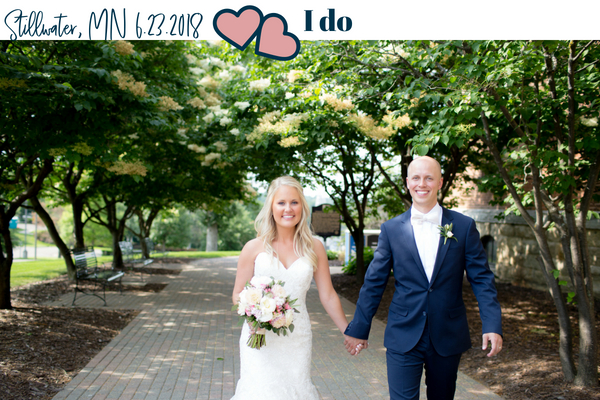 Brady and Hannah Wedding Walking Financially Engaged