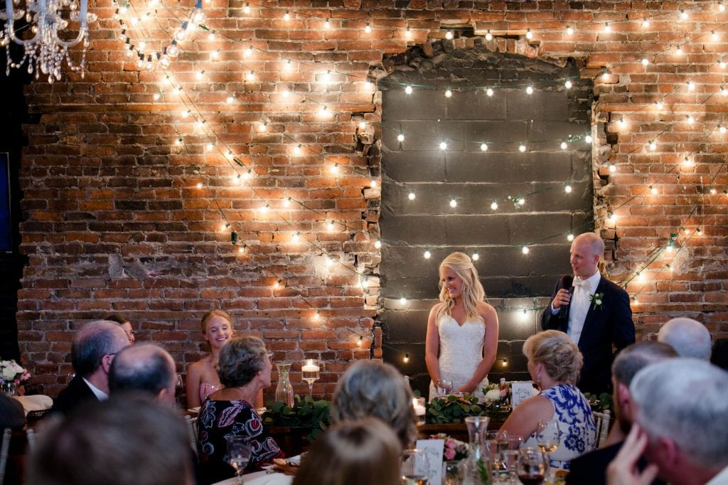 Hannah Brady Wedding Speech Lights Financially Engaged